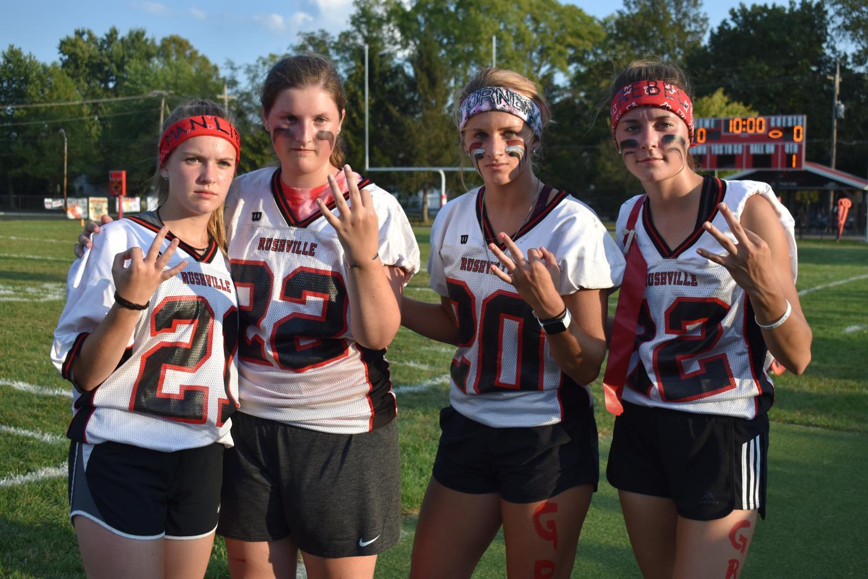 Left to Right: Kendall Manlief, Megan Bradley, Maddi Turner, Corrin Reboulet