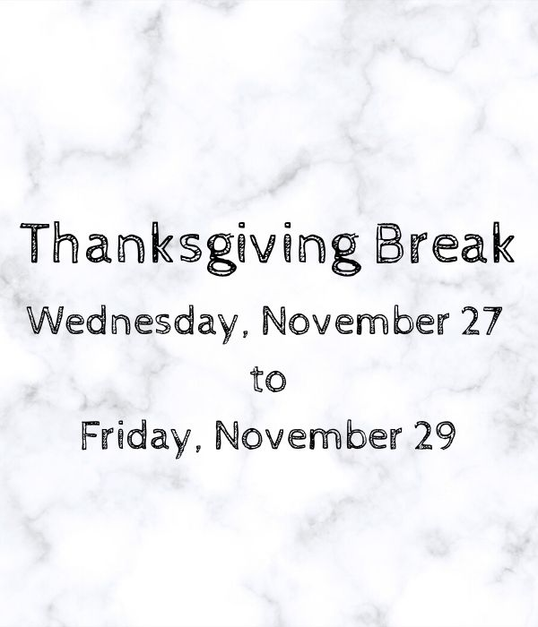 Thanksgiving Break (1)