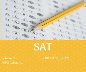 SAT 10/3 in Cafeteria